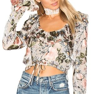 For Love and Lemons Floral Crop Top